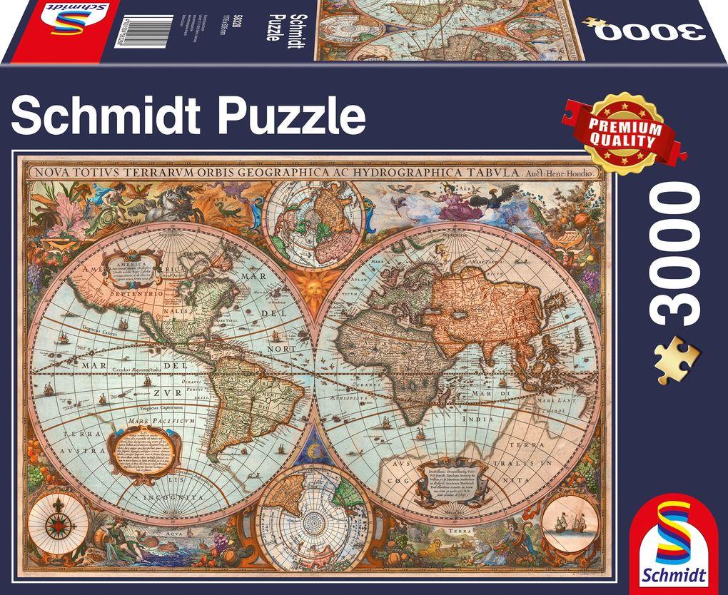 Schmidt Spiele Puzzle Antike Weltkarte 3000 Teile Spielware
