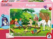 Bibi und Tina, 100 Teile - Kinderpuzzle mit Turnbeutel