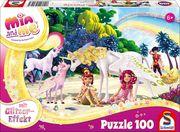 Glitzerpuzzle, Am Strand, 100 Teile - Kinderpuzzle Mia & Me