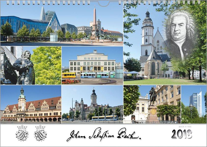 Johann Sebastian Bach Städte - Musik-Kalender 2018