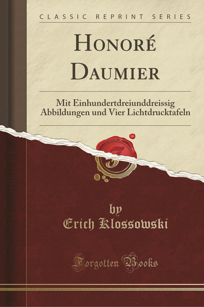 Honoré Daumier als Buch von Erich Klossowski