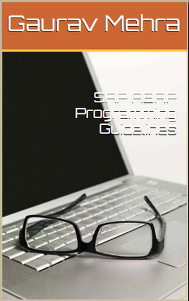 SAP ABAP Programming Guidelines als eBook Downl...