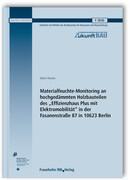 """Materialfeuchte-Monitoring an hochgedämmten Holzbauteilen des """"Effizienzhaus Plus mit Elektromobilität"""" in der Fasanenstraße 87 in 10623 Berlin. Forschungsbericht."""