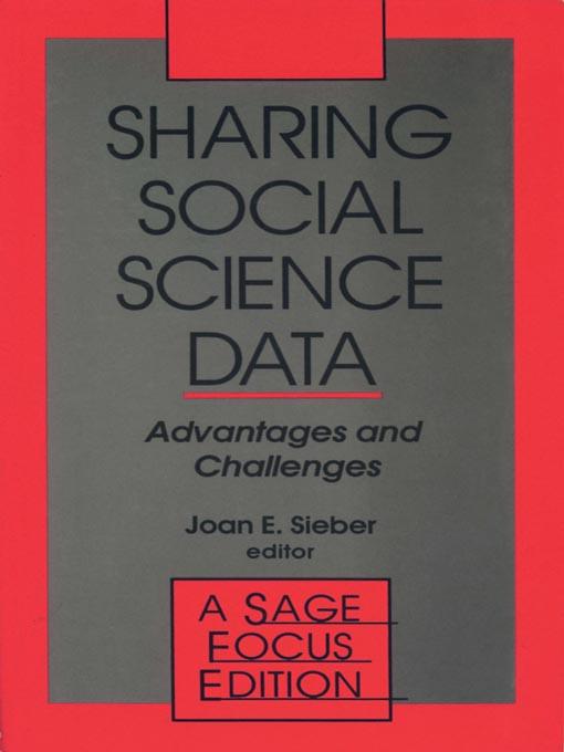 Sharing Social Science Data als eBook Download von