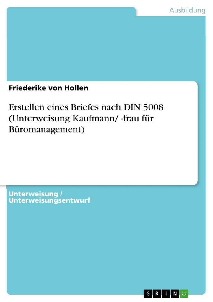Erstellen eines Briefes nach DIN 5008 (Unterwei...