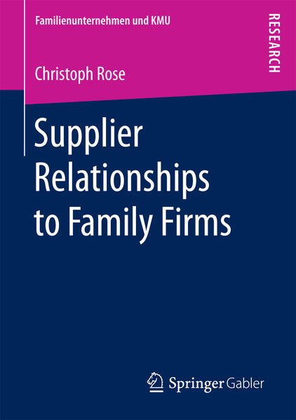 Supplier Relationships to Family Firms als Buch...