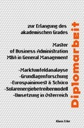Diplomarbeit - Solarenergiebetreibermodell-Umsetzung in Österreich