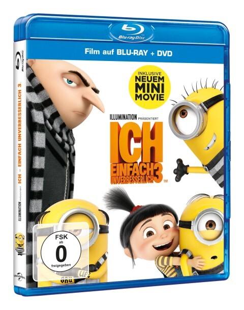 Ich - Einfach unverbesserlich 3 - Blu-ray (Combopack) als DVD