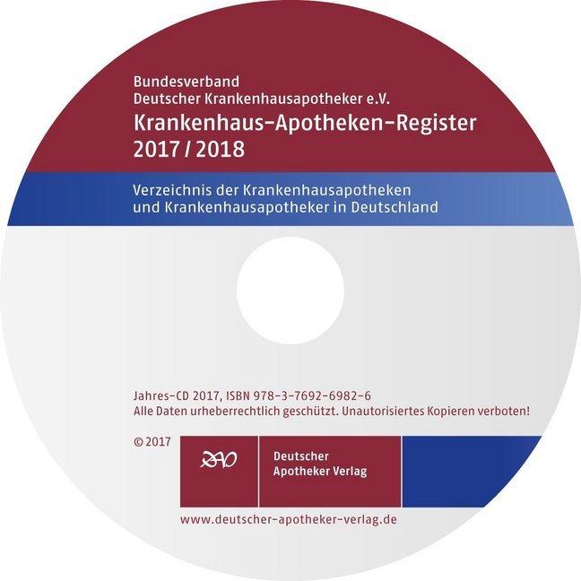 Krankenhaus-Apotheken-Register 2017/2018, CD-ROM