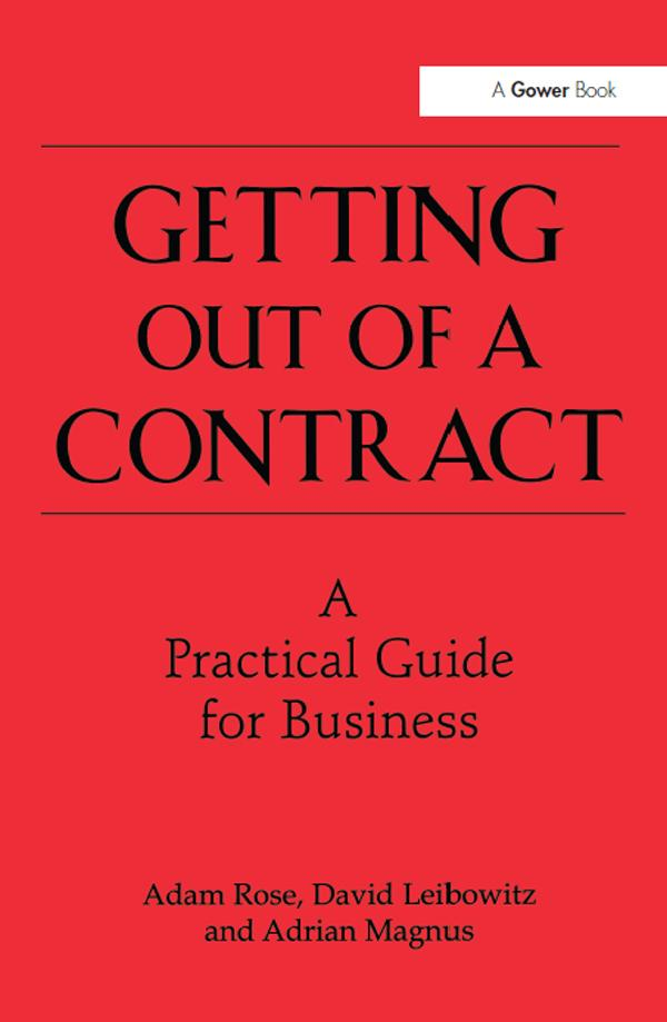 Getting Out of a Contract - A Practical Guide f...