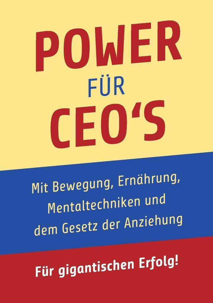 Power für CEO´s als eBook Download von Gerhard ...