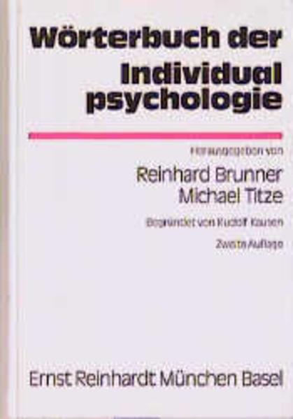 Wörterbuch der Individualpsychologie als Buch v...