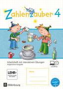 Zahlenzauber 4. Schuljahr - Allgemeine Ausgabe - Arbeitsheft mit interaktiven Übungen auf scook.de