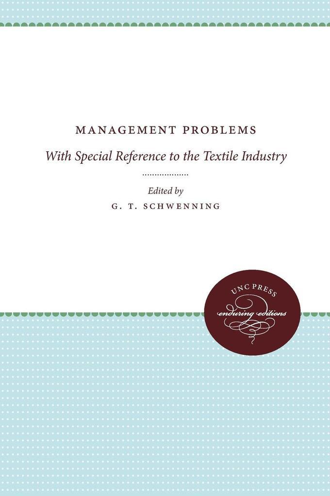 Management Problems als Taschenbuch von