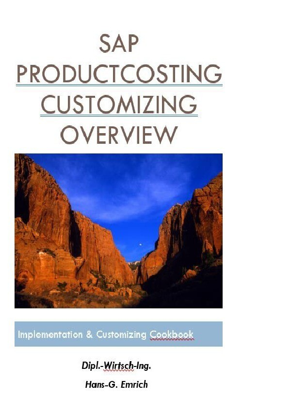 SAP CO Product Costing Customizing documentatio...