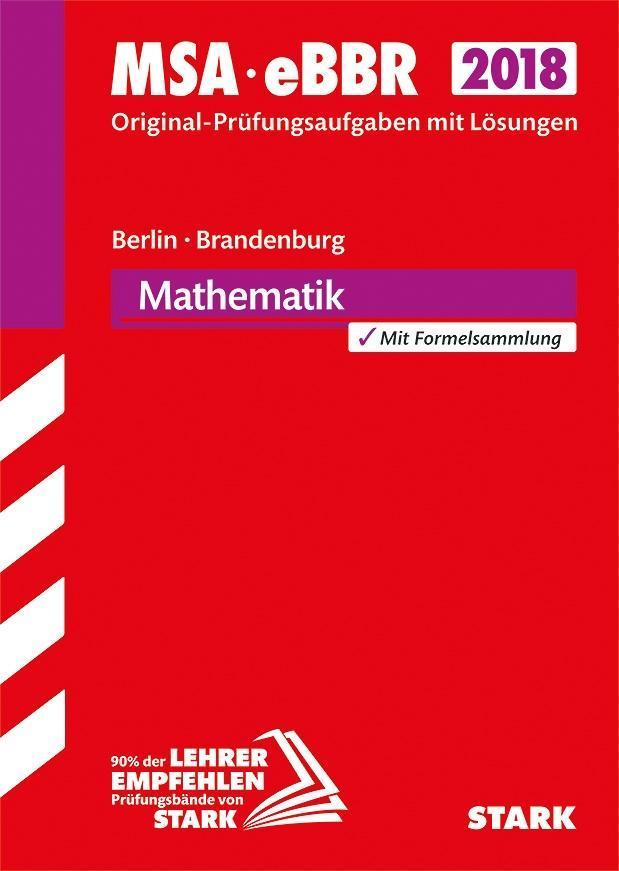 Mittlerer Schulabschluss Berlin/Brandenburg 2018 - Mathematik als Buch