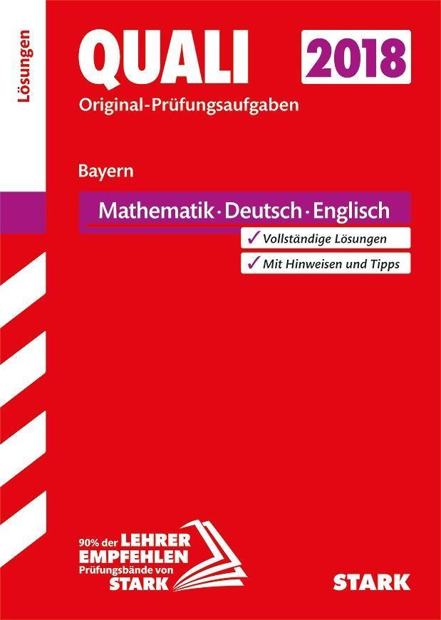 Abschlussprüfung Mittelschule Bayern 2018 - Mathematik, Deutsch, Englisch Lösungsheft als Buch