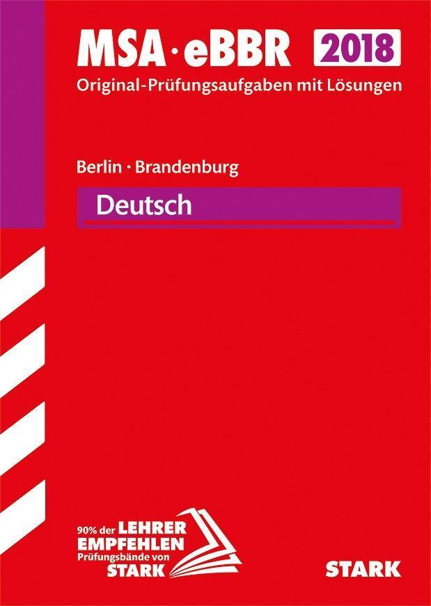 Mittlerer Schulabschluss Berlin/Brandenburg 2018 - Deutsch als Buch