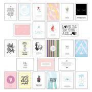 Postkarten Set - Postkarten Sprüche mit 25 hochwertigen versch. liebevollen Motiven und wunderschönen Sprüchen und Zitaten
