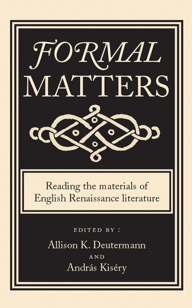 Formal Matters als eBook Download von