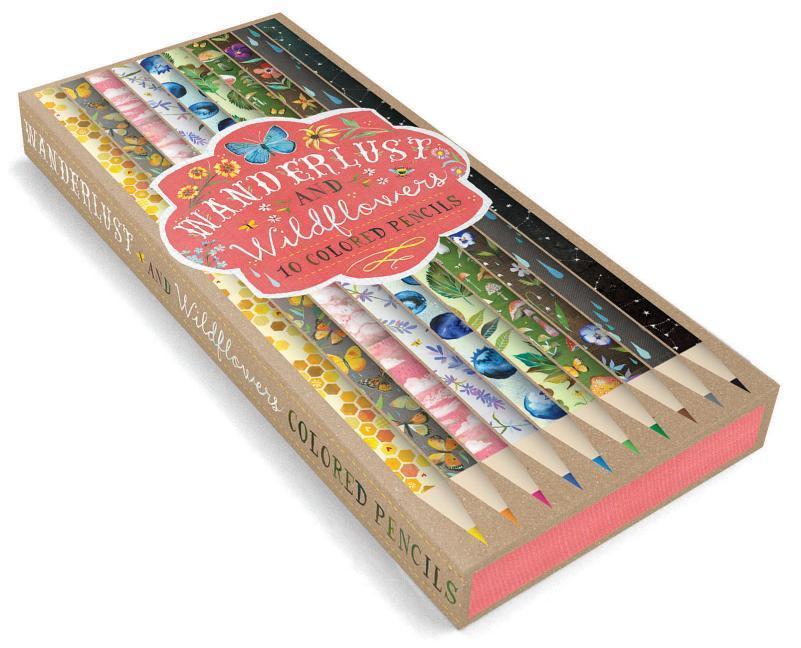 Wanderlust and Wildflowers: 10 Colored Pencils: (colored Pencils for Sketching, Colored Pencils for Daisy-Lovers) als Sonstiger Artikel