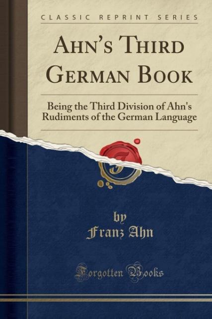 Ahn´s Third German Book als Taschenbuch von Fra...