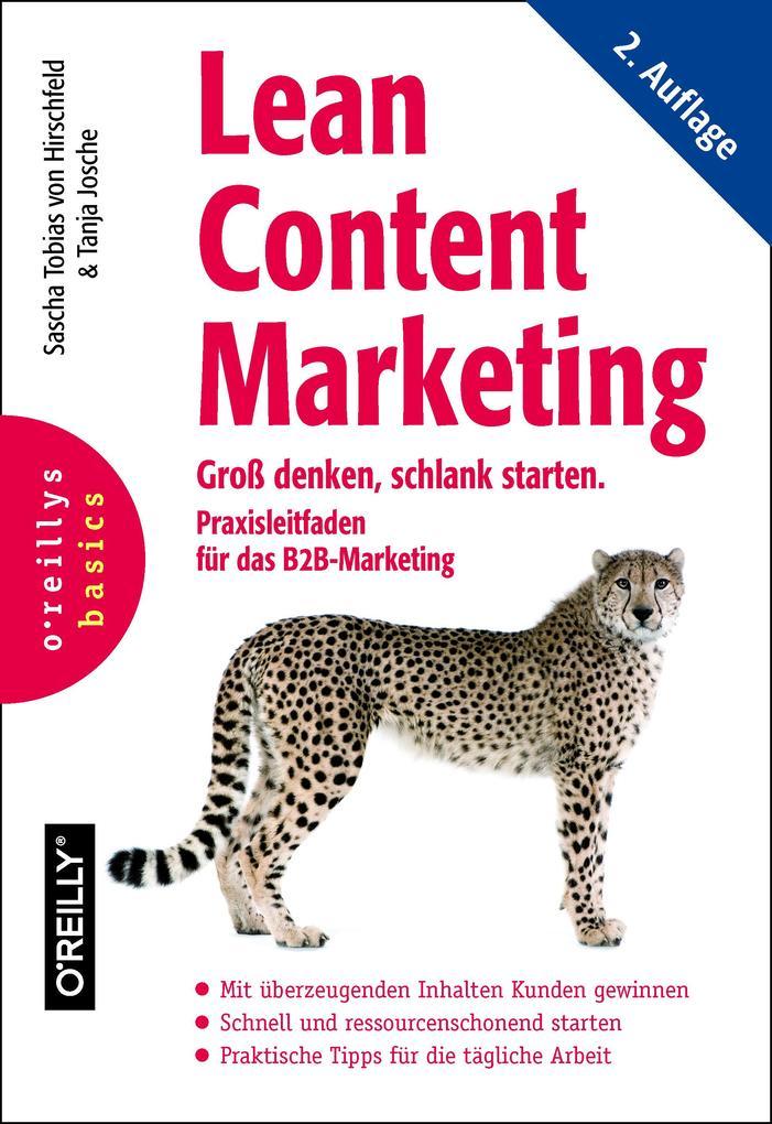 Lean Content Marketing als Buch von Sascha Tobi...