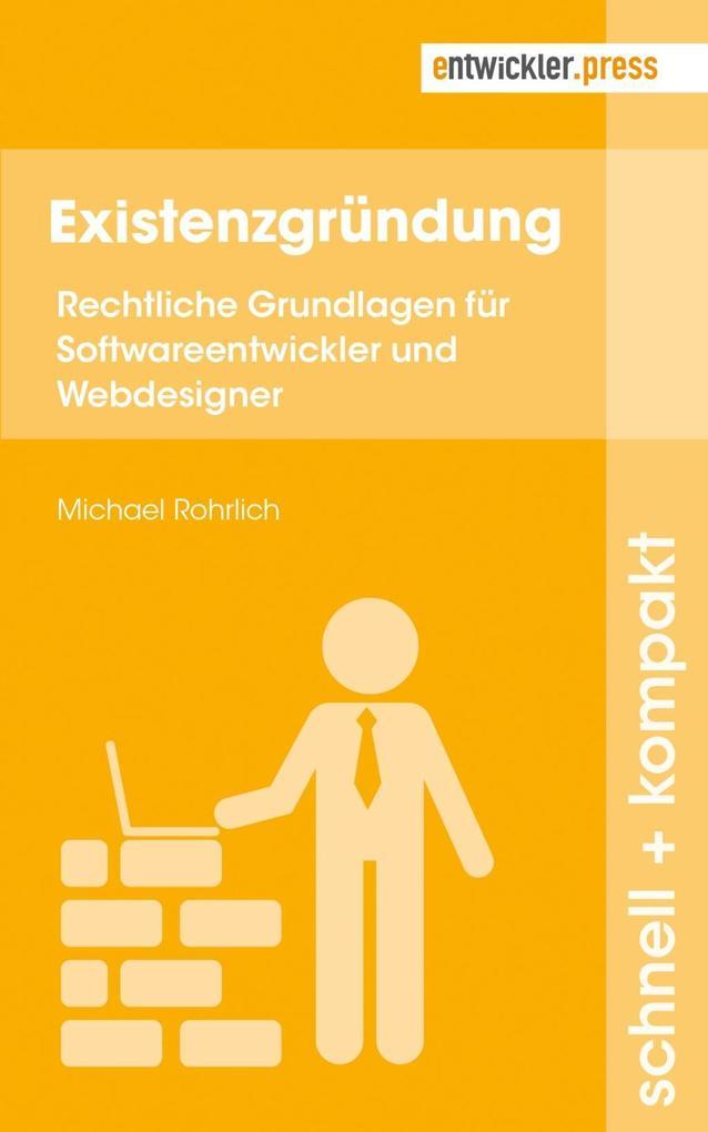 Existenzgründung als Buch von Michael Rohrlich