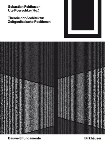 Theorie der Architektur als Buch von
