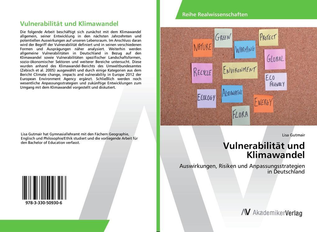 Vulnerabilität und Klimawandel als Buch von Lis...