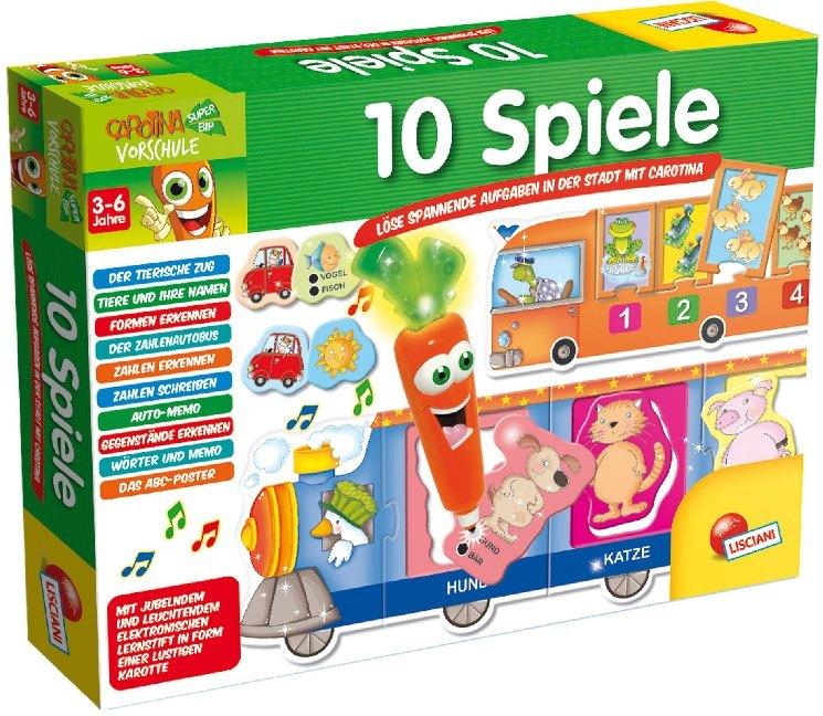 10 Spiele (Spielesammlung) als Spielwaren