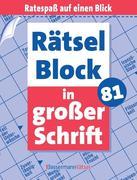 Rätselblock in großer Schrift. Bd.81