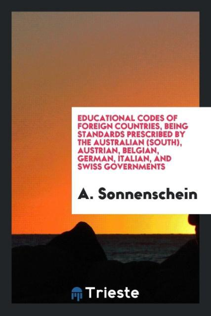 Educational codes of foreign countries, being s...