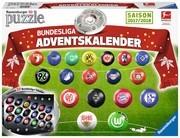Ravensburger 11695 - Bundesliga Adventskalender Saison 2017/2018, 18 x 3D-Puzzle-Ball und weitere Inhalte
