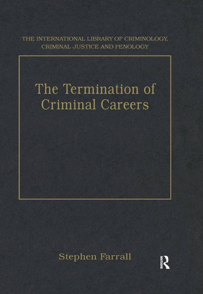 Termination of Criminal Careers als eBook Downl...