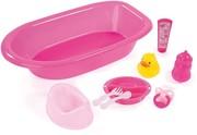 Bayer 73353AA - Großes Puppen-Zubehör-Set, rosa, Puppen-Badewanne, -Töpfchen für Puppen bis 46 cm, 9-teilig