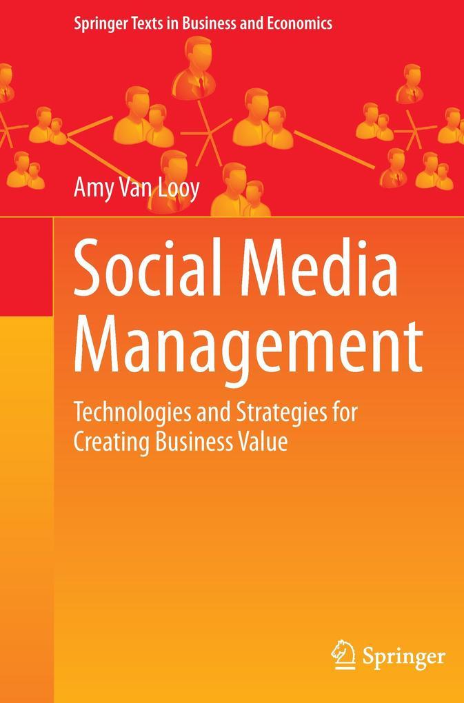 Social Media Management als Buch von Amy Van Looy