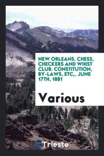 New orleans. Chess, Checkers and Whist Club. Co...