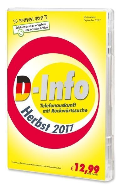 D-Info mit Rückwärtssuche Herbst 2017. Für Wind...