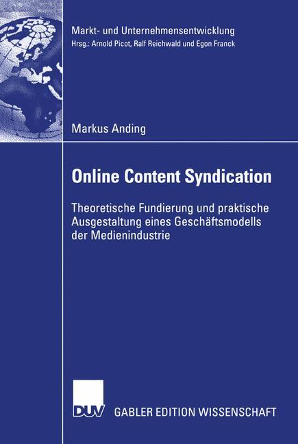 Online Content Syndication als Buch von Markus ...