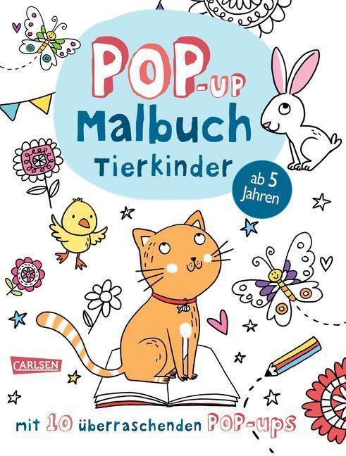 Pop-Up-Malbuch: Tierkinder als Buch von Anton P...