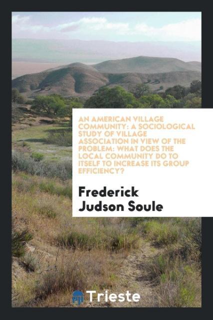 An American Village Community als Taschenbuch v...