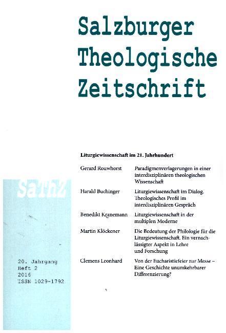 Salzburger Theologische Zeitschrift. 20. Jahrga...