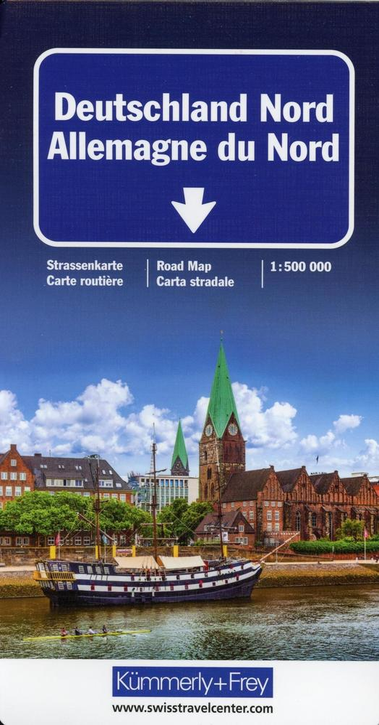 KuF Deutschland Straßenkarte Nord 1 : 500 000 a...