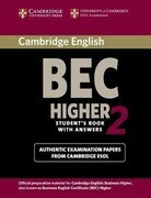 Cambridge BEC Higher 2 Student's Book with Answers