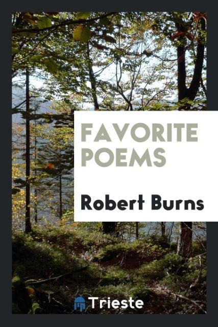 Favorite poems als Taschenbuch von Robert Burns