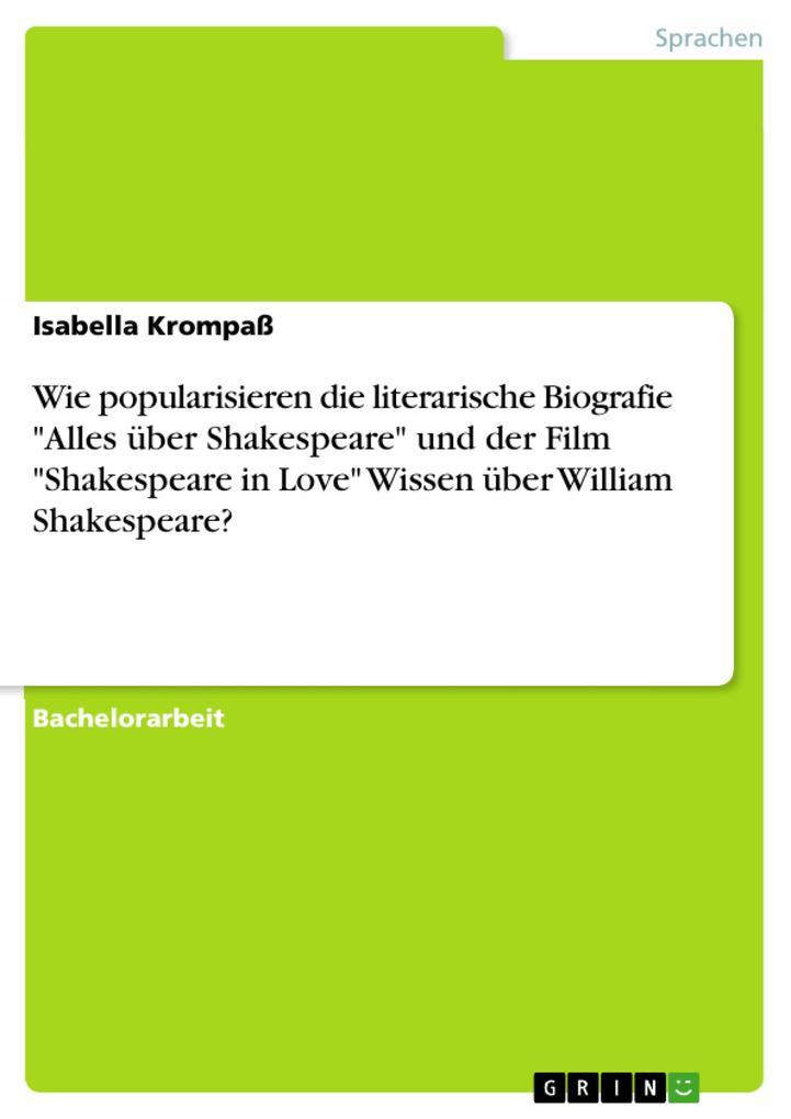 Wie popularisieren die literarische Biografie A...