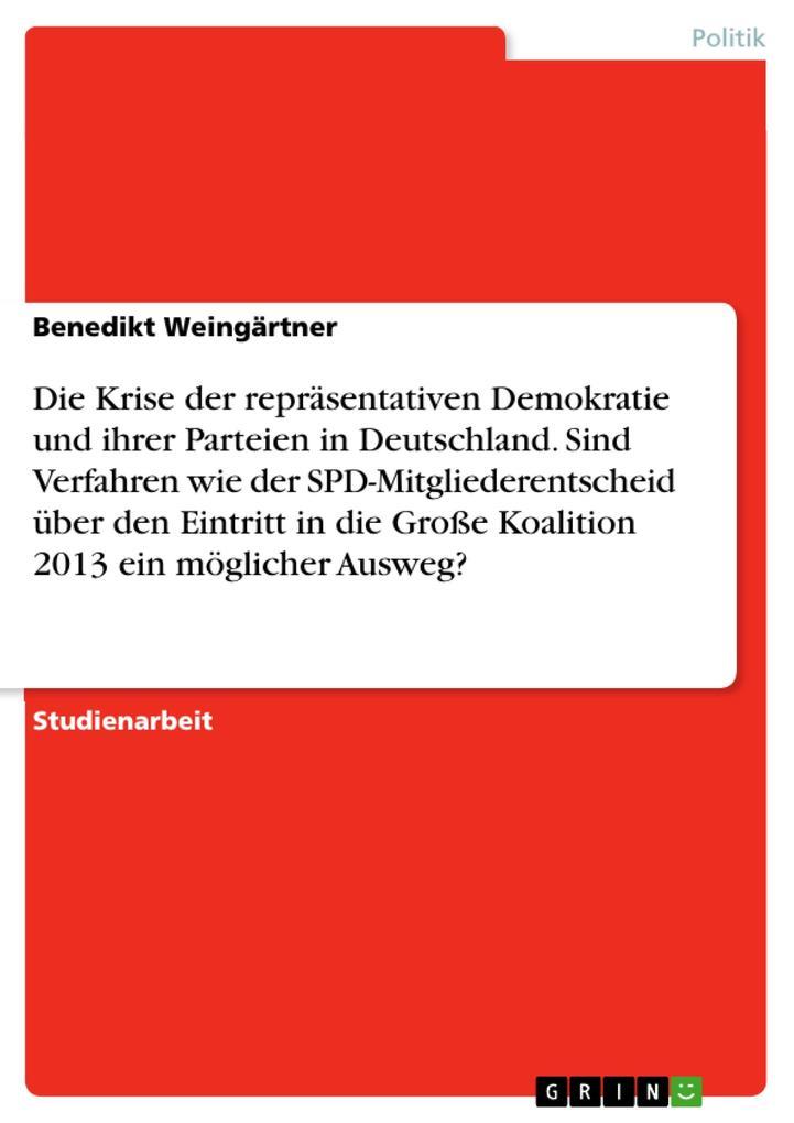 Die Krise der repräsentativen Demokratie und ih...