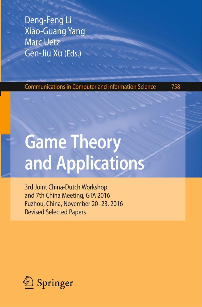Game Theory and Applications als Buch von