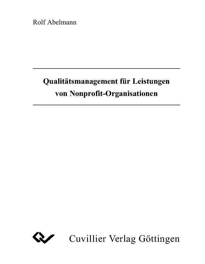 Qualitätsmanagement für Leistungen von Nonprofi...